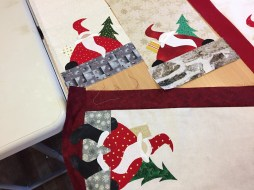 Close-up of the table runner