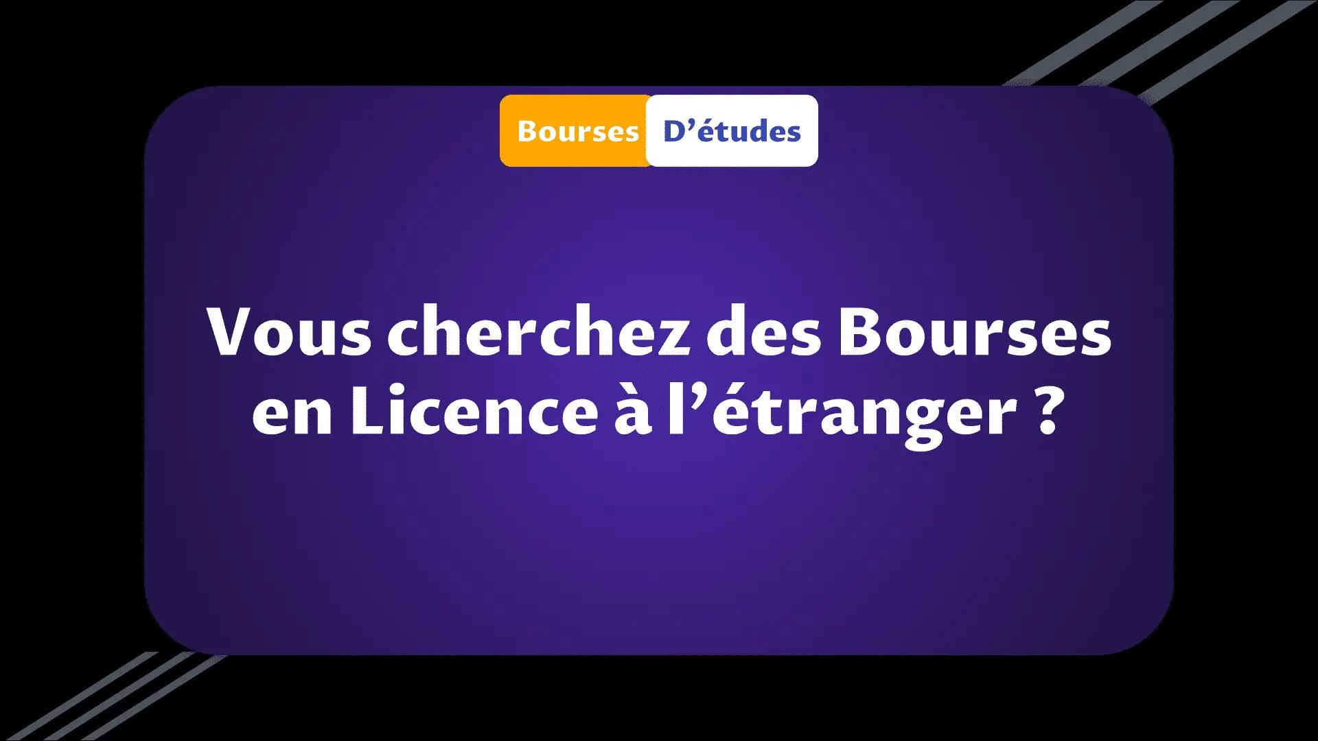 Bourses Licence à l'étranger