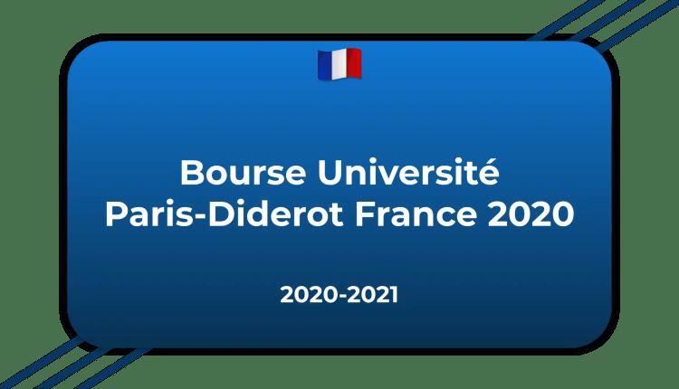 Bourse Université Paris-Diderot France 2020