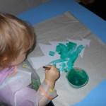 Vue de l'activité peinture