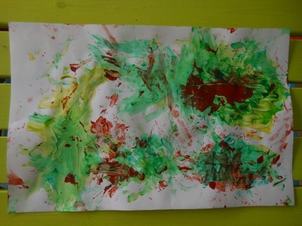 Exceptionnel Pédagogie Montessori : activité peinture au doigt | Bout de chou  TZ94