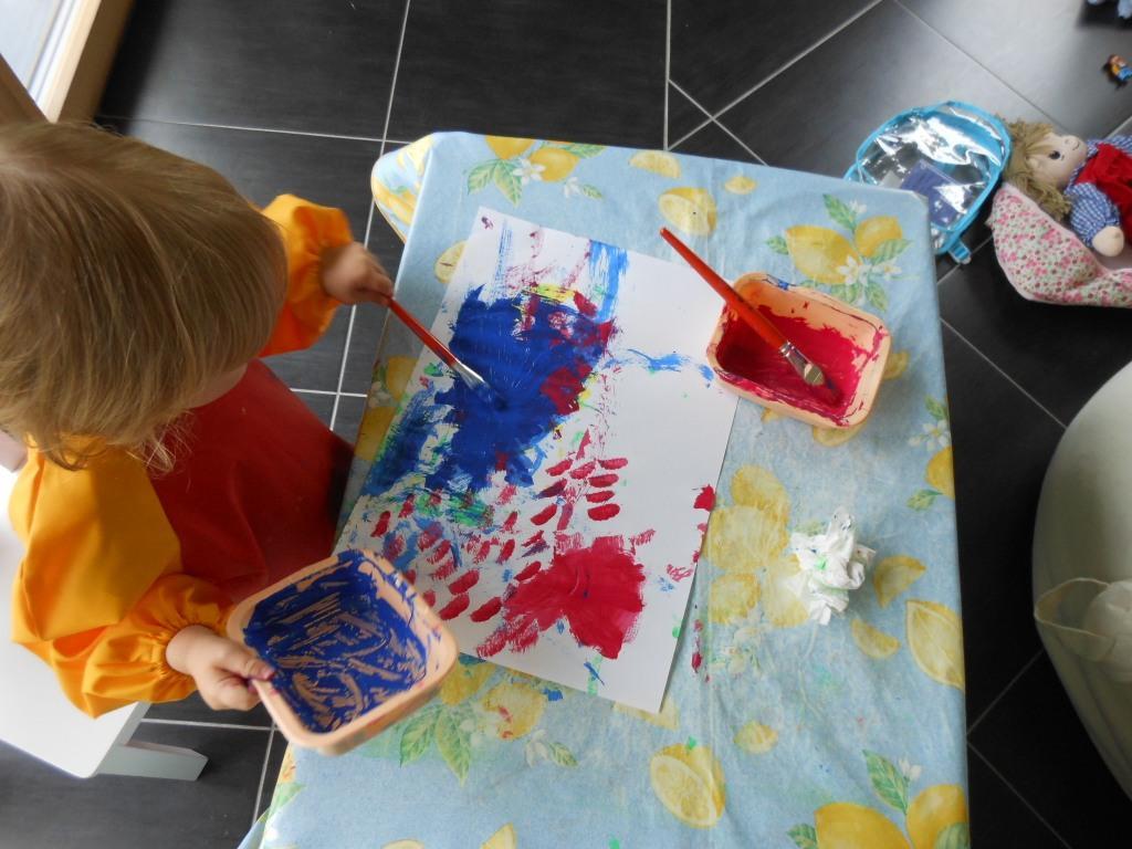 G om trie pour les tout petits activit peinture bout de chou en veil - Activite noel pour tout petit ...
