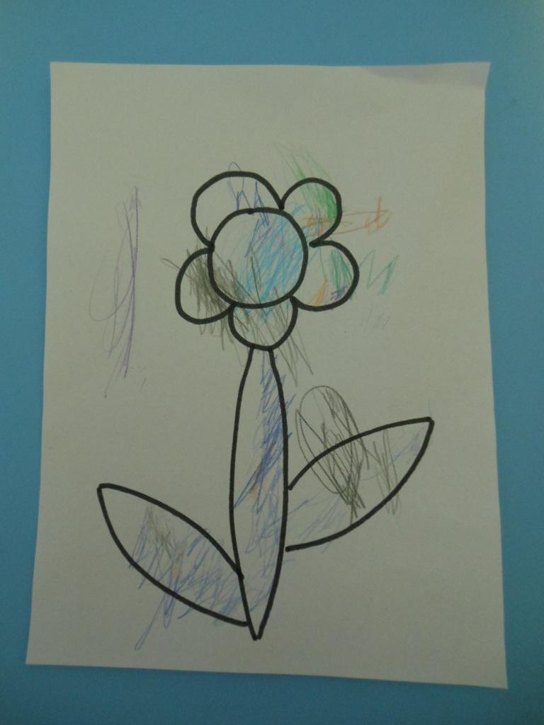 Coloriage Fleur Tps.Activite Pedagogique Premier Coloriage Bout De Chou En