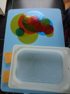 Pédagogie Montessori : cercles de couleur