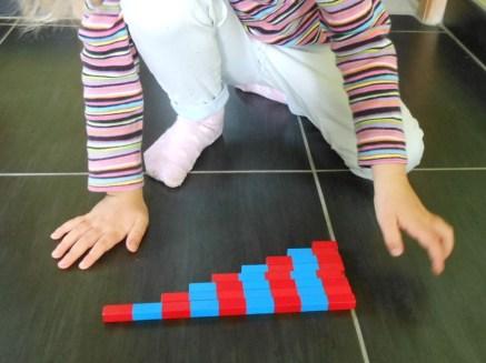 Pédagogie Montessori barres numériques