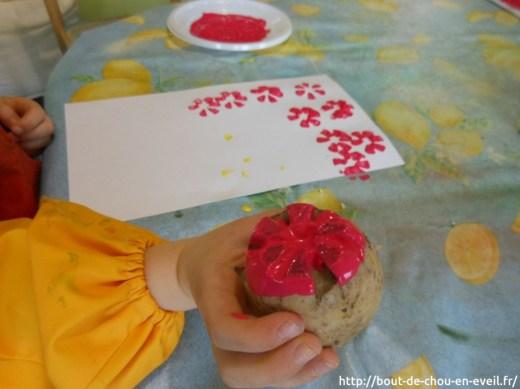 Activité peinture patatogravure