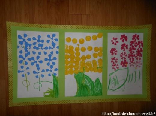 Activité peinture et empreintes