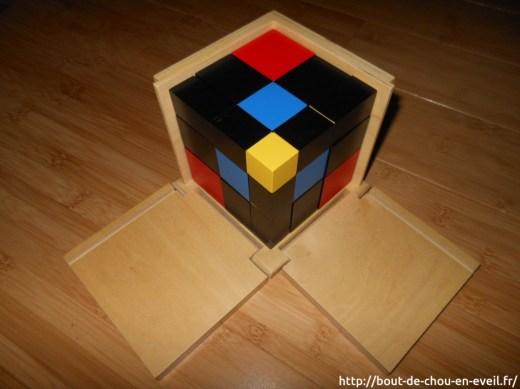 Cube du trinome : activités Montessori