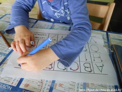 Apprendre à écrire les lettres