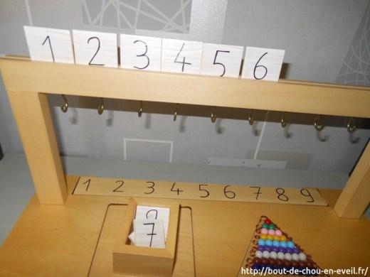 Activités Montessori nombres et quantité de 1 à 9