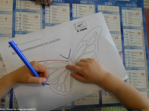 Activité pédagogique enfant 4 ans