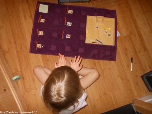 Activité Montessori les nombres