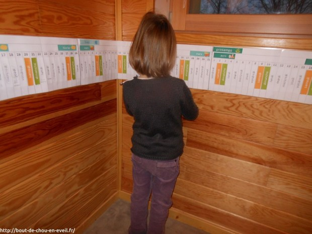 Poutre du temps Montessori