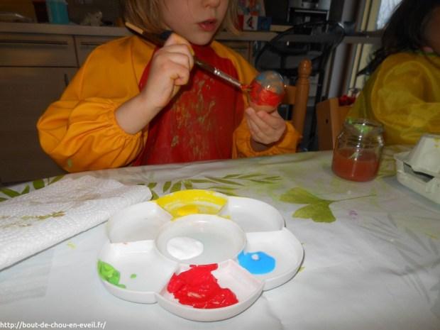 Activité peinture sur oeuf