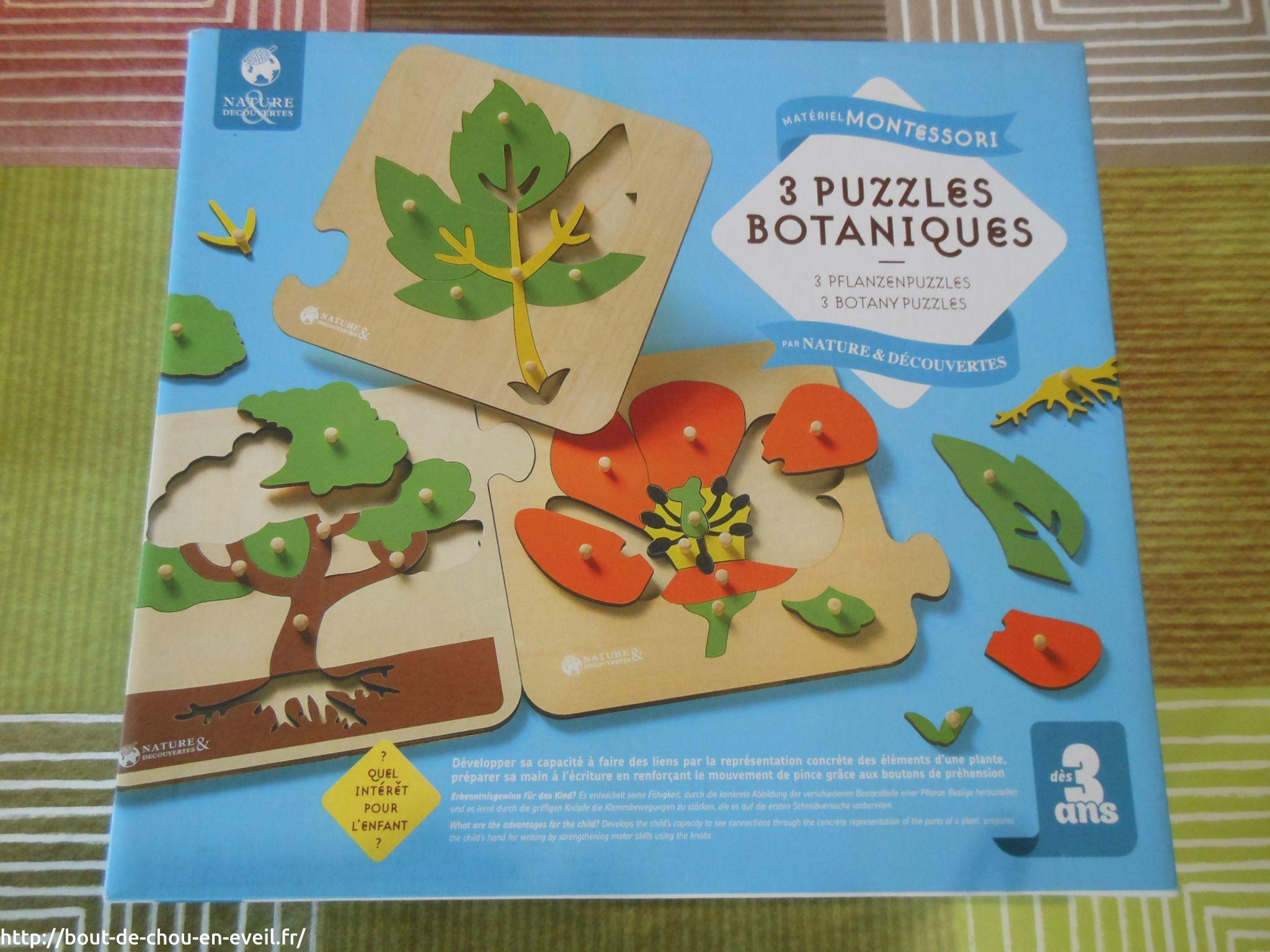 activit montessori puzzles botaniques bout de chou en veil. Black Bedroom Furniture Sets. Home Design Ideas