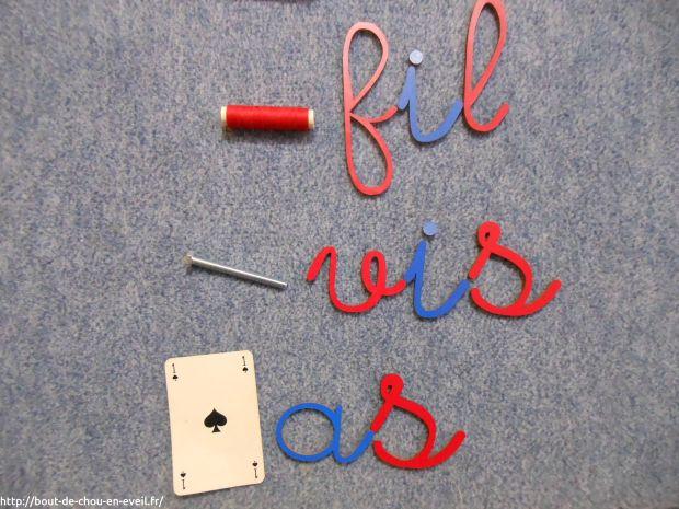 Activités Montessori première boite d'écriture