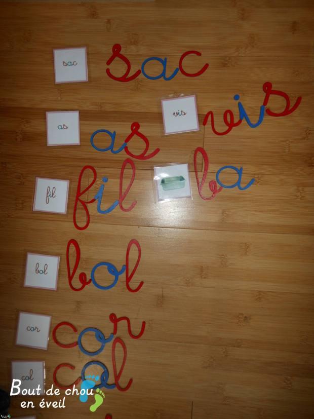 Activités Montessori série rose dictées muettes