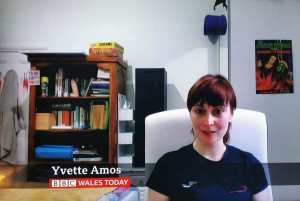 Yvette Amos Goes Viral After Leaving EXPLICIT Item In Background On BBC WALES News Interview! 🙈😅