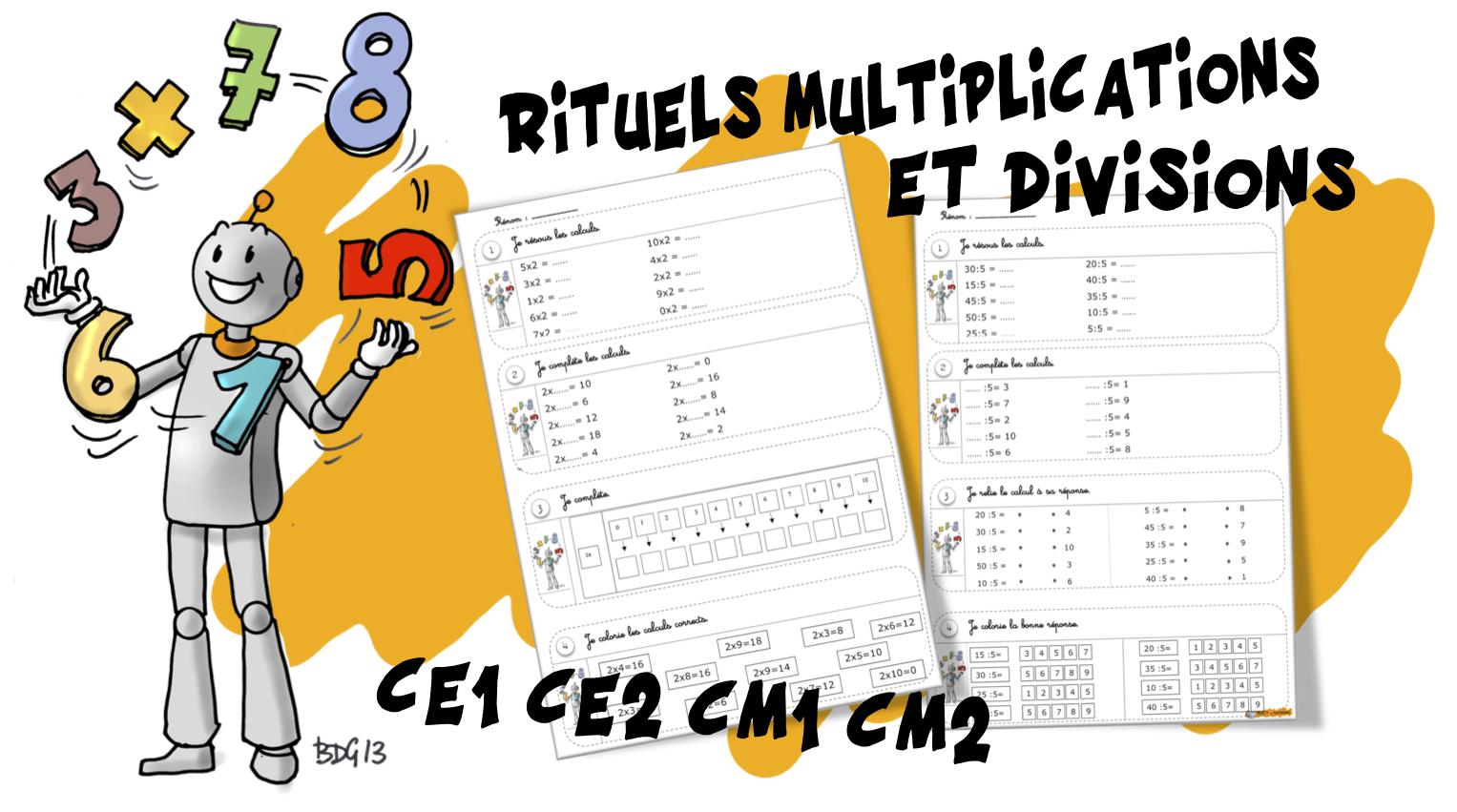 Rituels Maths Multiplications Et Divisions