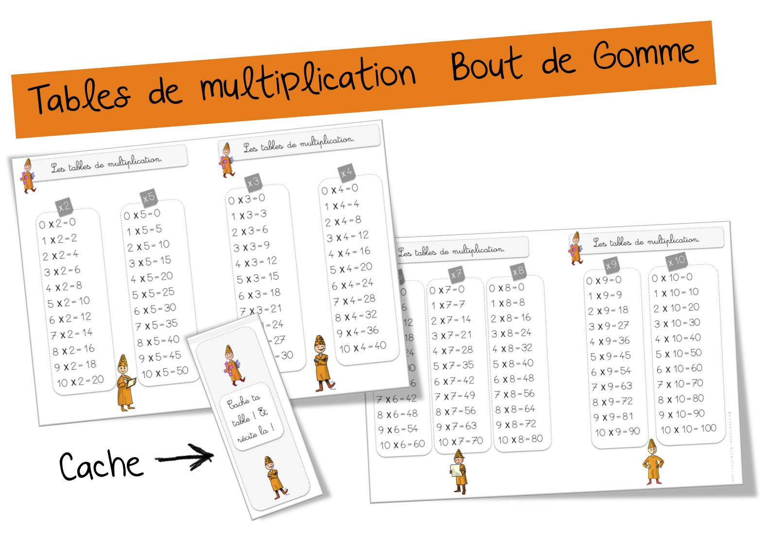 Exercice Table Multiplication 3 4 5