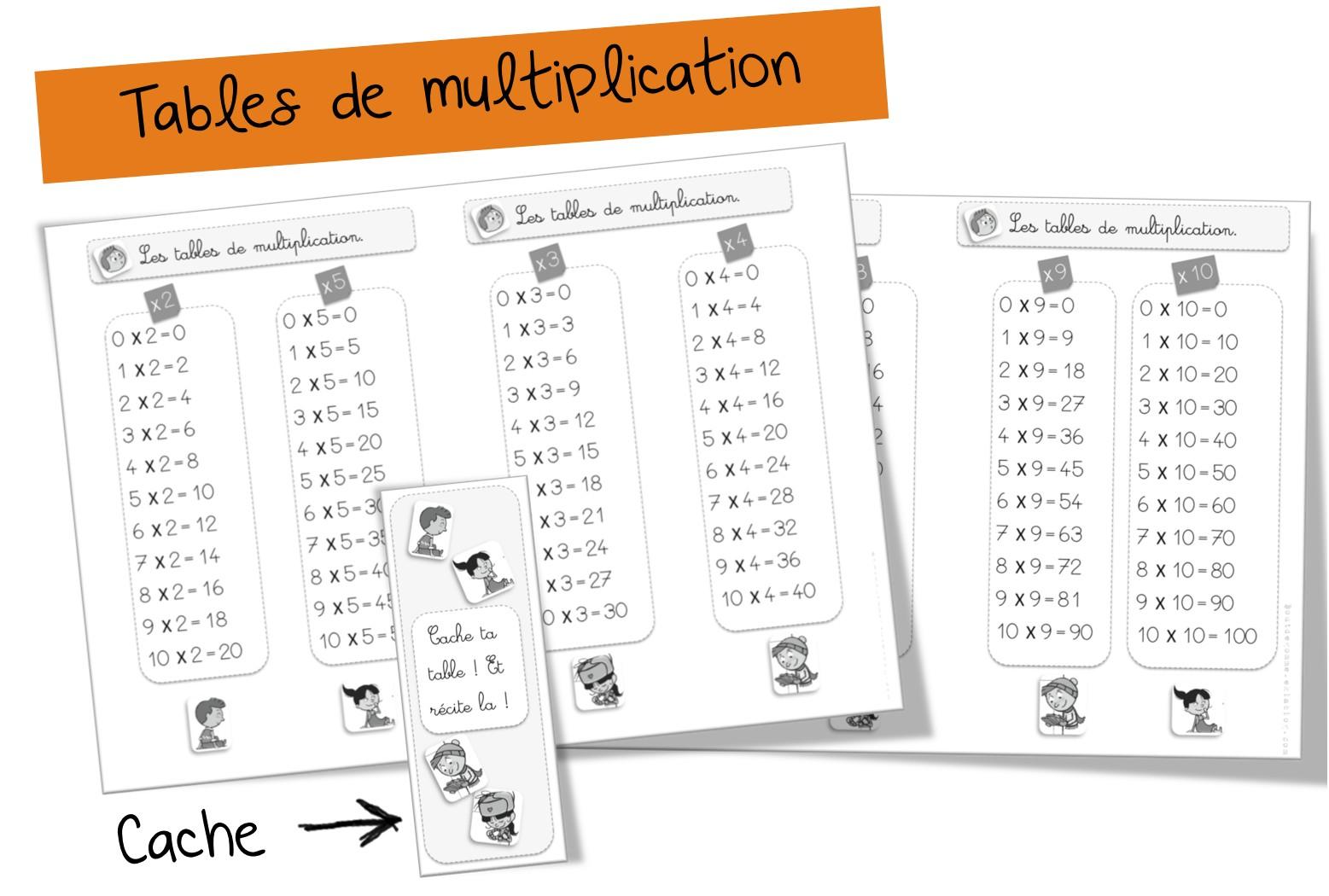 Exercice Table De Multiplication 2 3 4 5