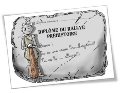 Diplome rallye prehistoire cycle 3 BDG
