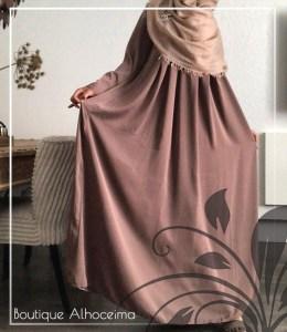 abaya plooien oudroze