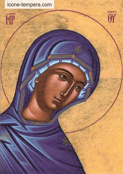 carte postale vierge bleue