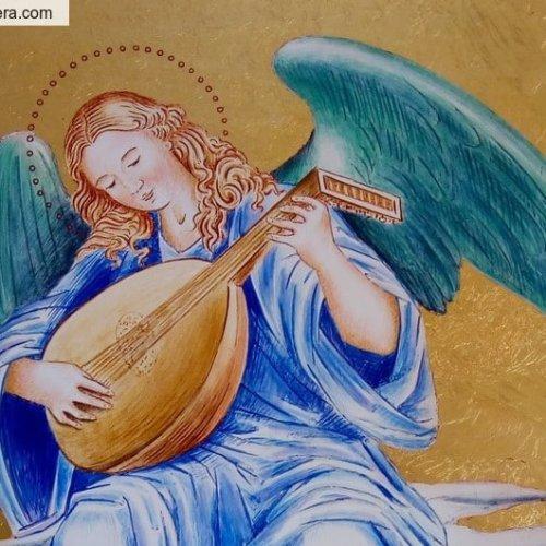 carte postale L'ange au luth