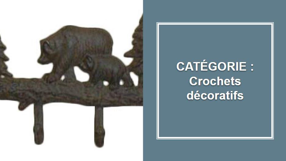 CATÉGORIE : Crochets décoratifs