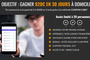 OBJECTIF : GAGNER 920€ EN 30 JOURS À DOMICILE
