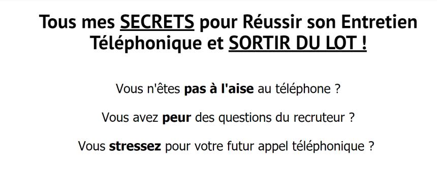 Réussir son Entretien D'Embauche Téléphonique !