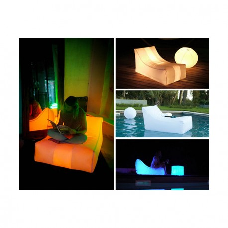 fauteuil gonflable a led nap loon air