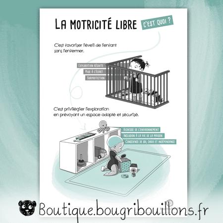 La motricité libre - Affiche 4 - Espace de jeu - Affiche Bougribouillons Petite enfance