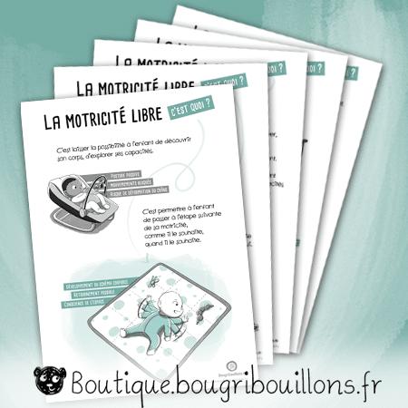 La motricité libre - lot de 5 affiches - Affiche Bougribouillons Petite enfance