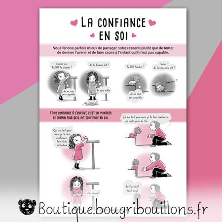 La confiance en soi - nouvelle version - Affiche Bougribouillons Petite enfance