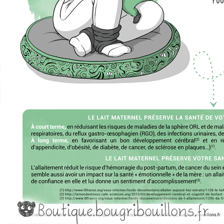 Extrait affiche allaitement 4 - L'allaitement pour la santé - Bougribouillons