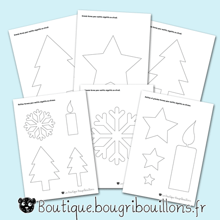Formes et motifs thème hivers - Bougribouillons