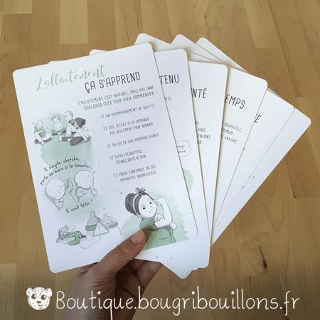 Photo 1 des fiches A5 sur l'allaitement - Bougribouillons