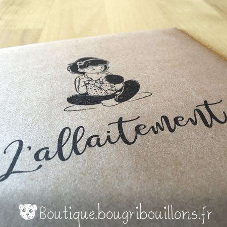 Étui 6 fiches allaitement - tampon - Bougribouillons