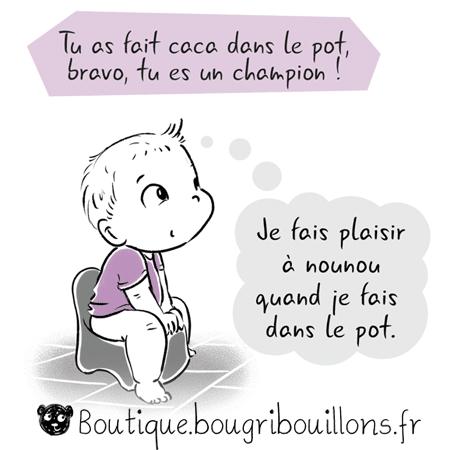 Bravo ou les compliments descriptifs et évalutatifs - Extrait 1 - Affiche Bougribouillons Petite enfance