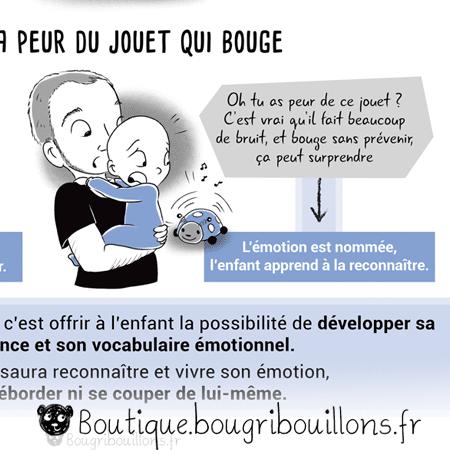 Accueillir ou éteindre l'émotion - Extrait 2 - Affiche Bougribouillons Petite enfance