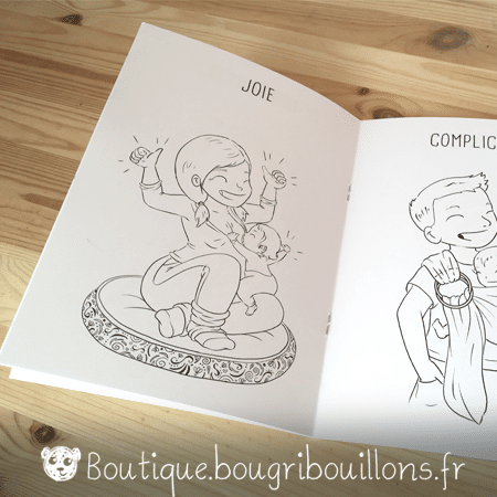 Cahier de coloriage Bougribouillons - La bienveillance en couleurs - Extrait 1