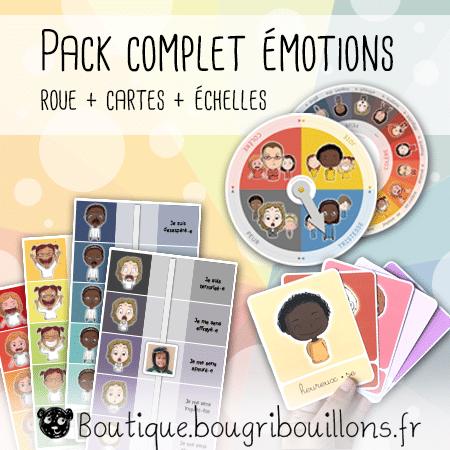 Pack complet émotions - Cartes + Roue + Échelles