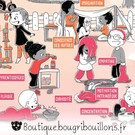 Jeu libre partie 1 - V2 - Extrait - Affiche Bougribouillons Petite enfance