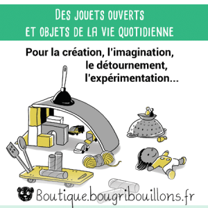 Jeu libre partie 2 - Extrait 1 - Affiche Bougribouillons Petite enfance