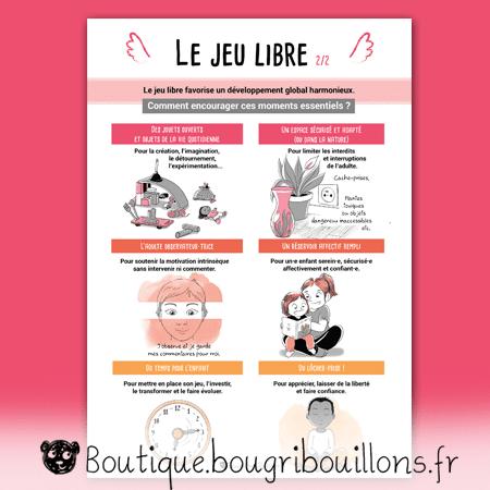 Jeu libre partie 2 - V2 - Affiche Bougribouillons Petite enfance