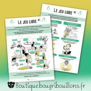 Jeu libre - duo - Affiche Bougribouillons Petite enfance