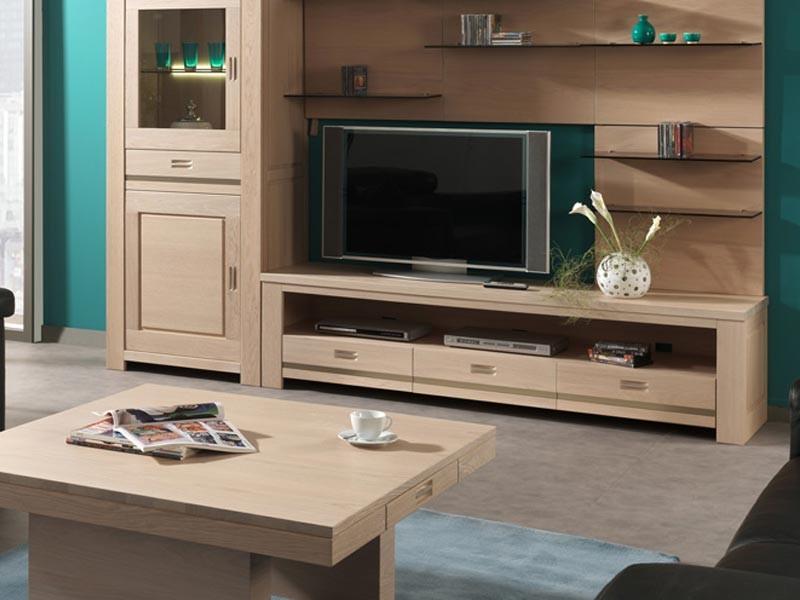 meuble tv vivaldi en chene semi massif