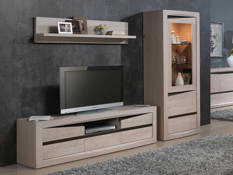 meuble tv contemporain sara en chene 2